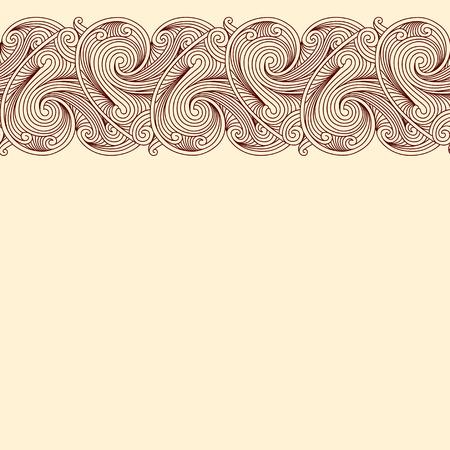 beige background: Beige background with horizontal seamless border Illustration