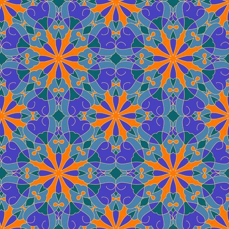 Decorative seamless pattern Illustration
