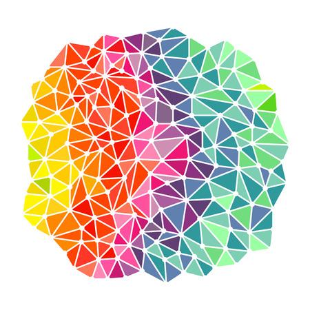 Bright rainbow triangles background