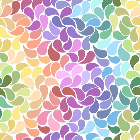 Pastel rainbow petals seamless background