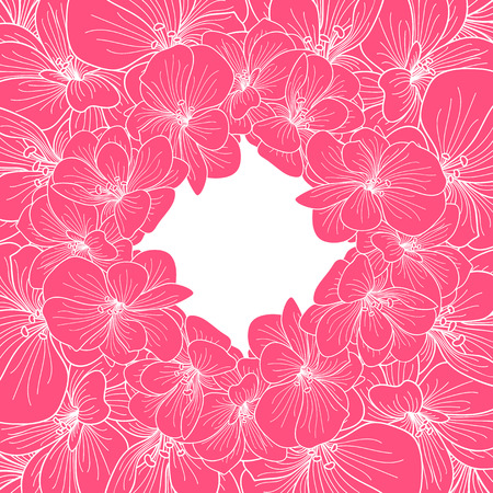 botanics: Pink and white orchid frame