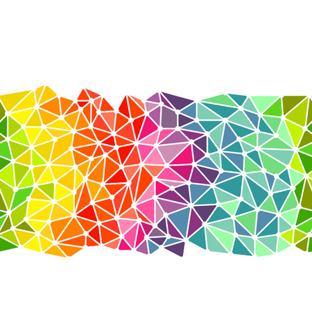 Bright triangles low poly border