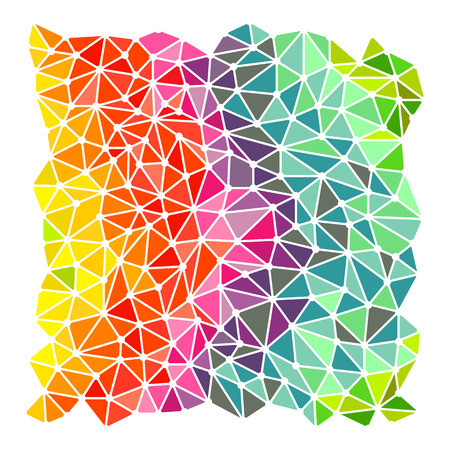 szivárvány: Fényes szivárvány háromszög háttér