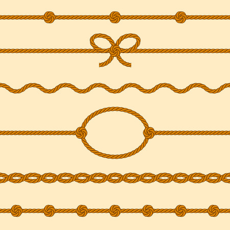 cordage: Set of rope borders