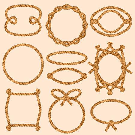 cordage: Set of marine rope frames