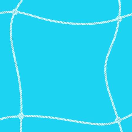 White rope square frame