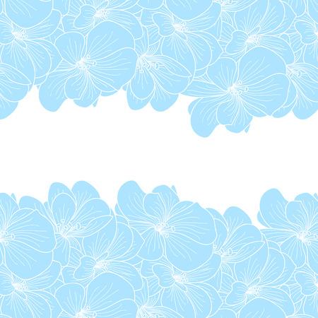 flowers background: Geranio florece el fondo con copyspace Vectores