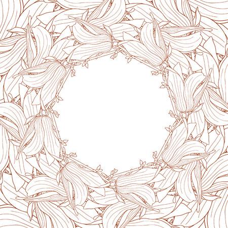 magnolia soulangeana: Frame made of magnolia soulangeana flowers