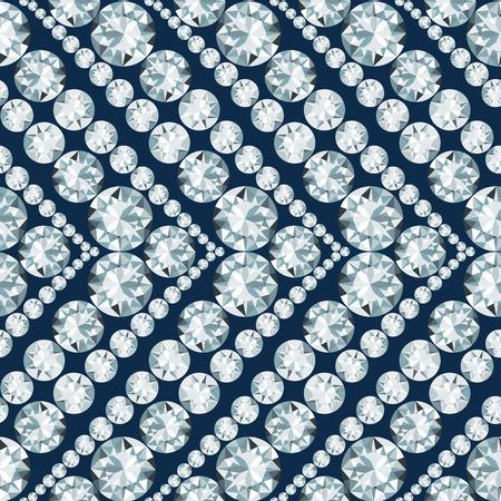 gemstones: Seamless herringbone pattern made of diamonds Illustration