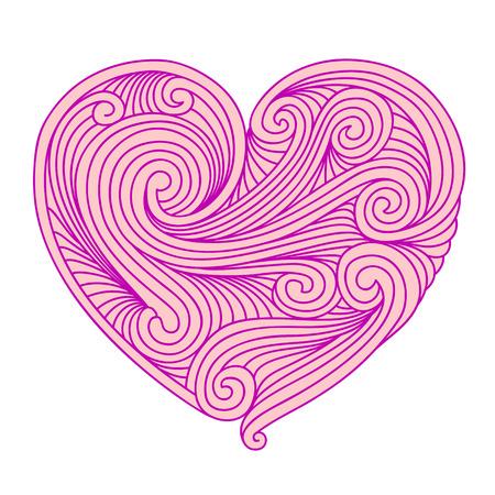pink heart: Decorative pink heart