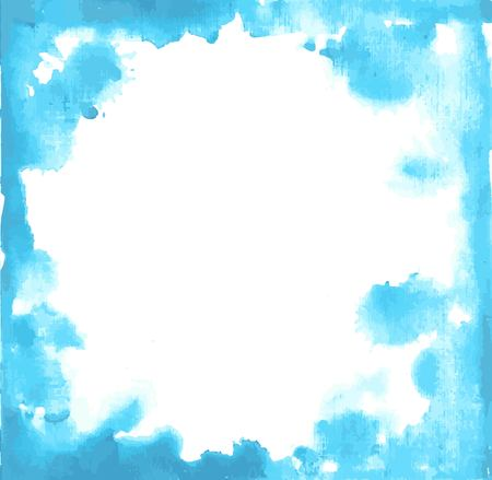 paint drop: Blue paint grunge frame