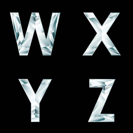 diamond letters: Diamond letters. Alphabet available in portfolio.