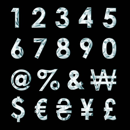 signo pesos: Números de diamante y símbolos de moneda