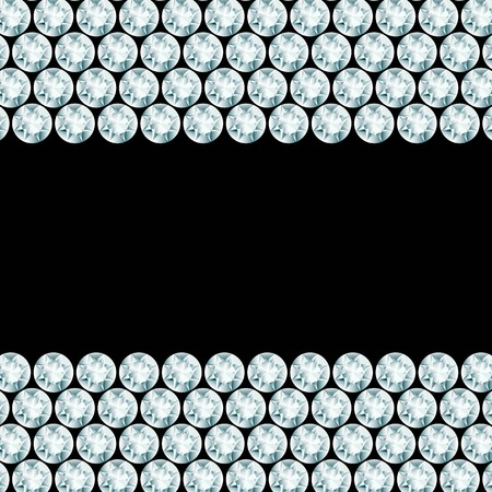 rhinestone: Black background with 2 diamond borders