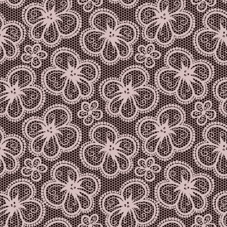 taupe: Seamless flower lace pattern Illustration