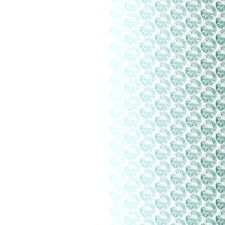 rhinestone: White background with diamond border