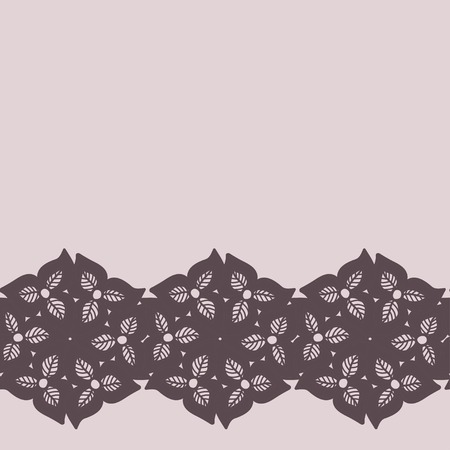 taupe: Decorative lacy border
