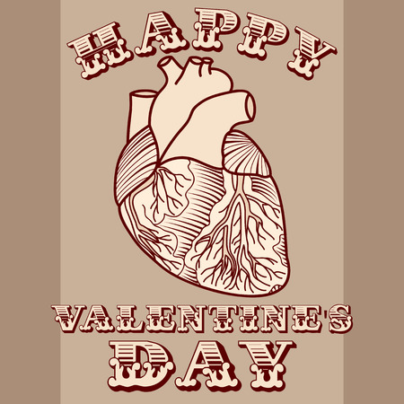 sarcastic: Sarcastic Valentine card with anatomic heart
