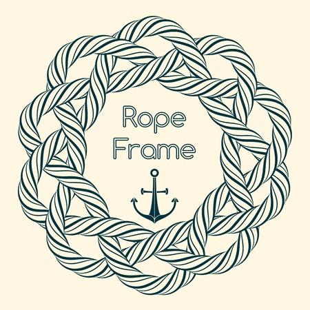 plaits: Blue rope decorative round frame