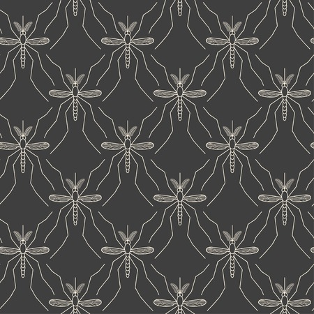 pandemic: Seamless pattern made of mosquitos