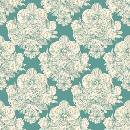 seamless: Seamless retro flower pattern