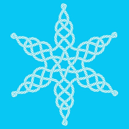 celtic symbol: Rope decorative celtic star composition Illustration