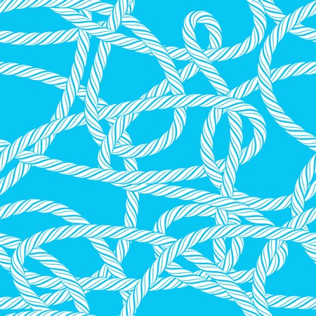 Seamless tangled rope loops pattern