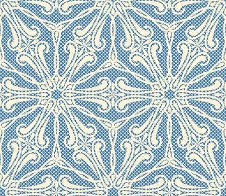 seamless bacground: Seamless lace pattern on blue bacground