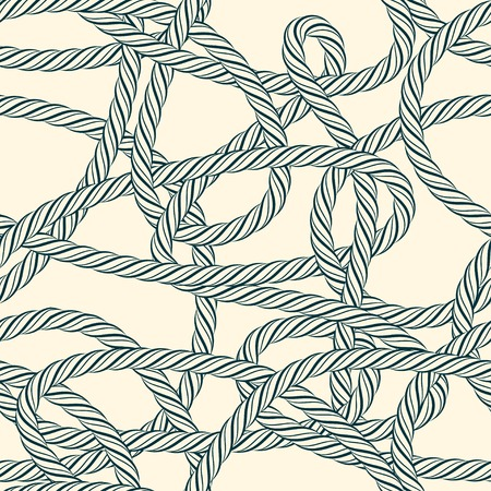 with loops: Seamless tangled rope loops pattern