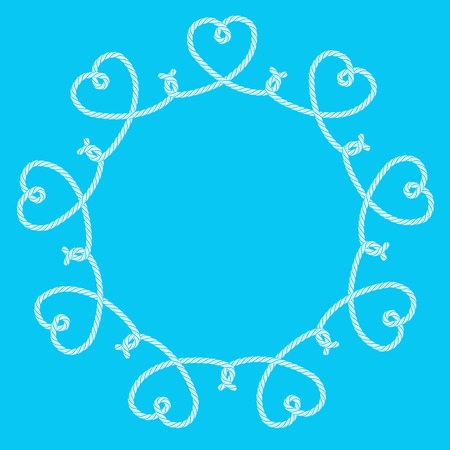 cordage: Frame made of rope hearts decorative knots