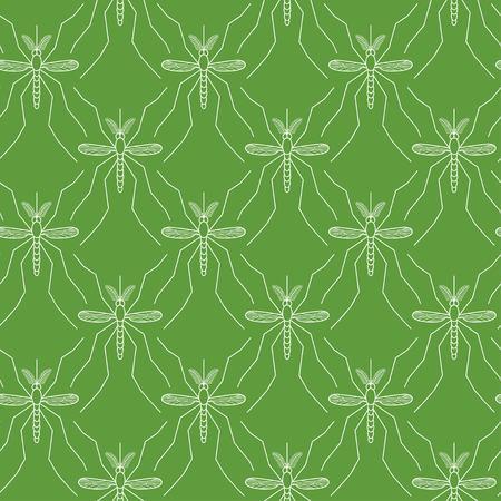 mosquitos: Seamless pattern made of mosquitos