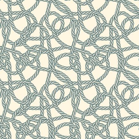cordage: Seamless rope loops pattern