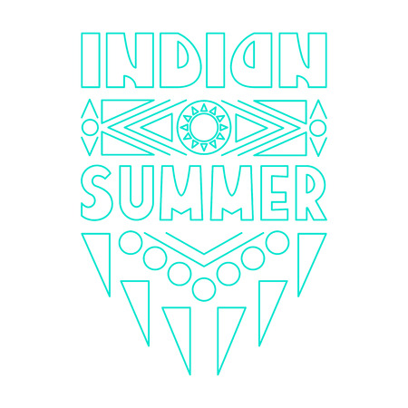 indian summer: Lettering composition Indian Summer on white background