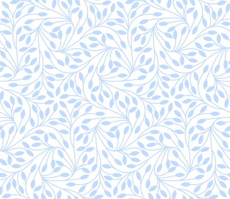 botanics: Seamless leaves pattern on white background
