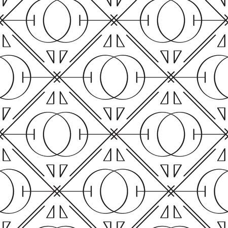 sacred: Sacred geometry seamless pattern on white background