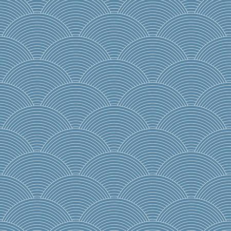 seamless pattern: Linear scales seamless pattern Illustration