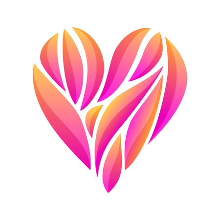 Heart composition on white background