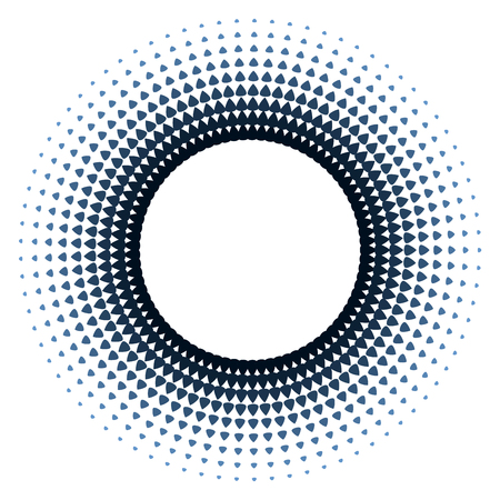 Round frame design template with halftone effect Illustration