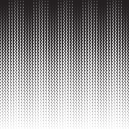Black and white halftone background template Illustration
