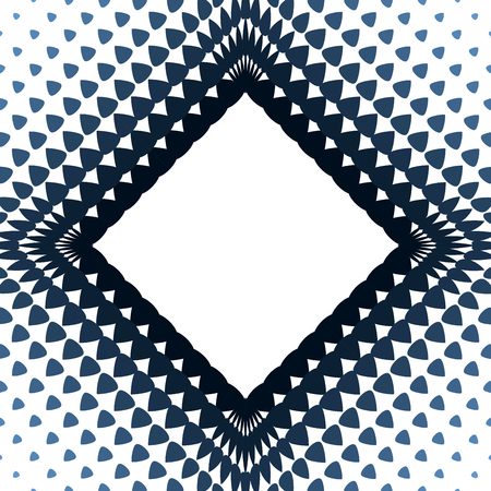 Rhombus frame design template with halftone effect