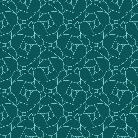 Abstract linear seamless pattern on dark teal background