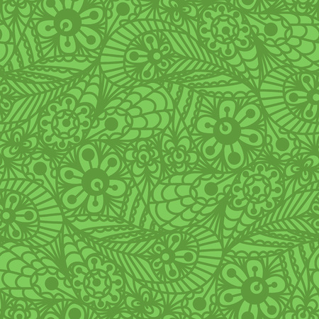 Seamless flower paisley lace pattern on beige background