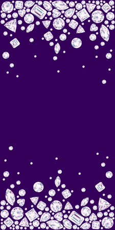 violet background with two diamond borders
