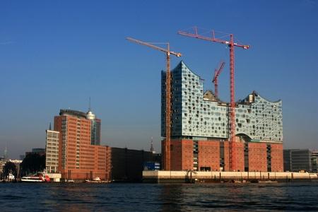 wasser: Baustelle der Elbphilharmonie Hamburger