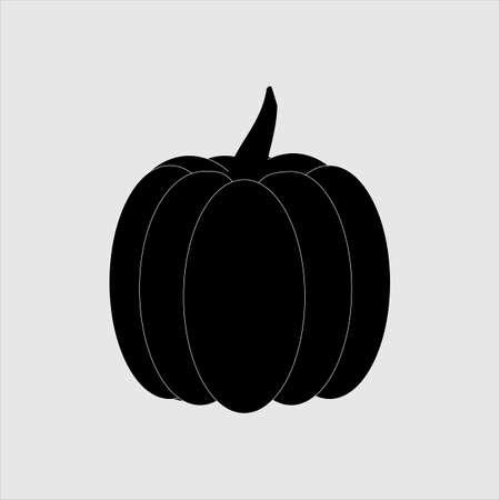 Black and White Pumpkin Cartoon Illustration for halloween