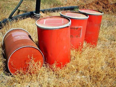 tailings: red barrelandamp,amp,#1099, Stock Photo