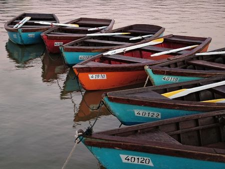 Many boats photo