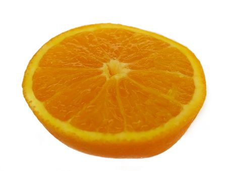orange cut: This is a close-up of an orange cut in half. Stock Photo