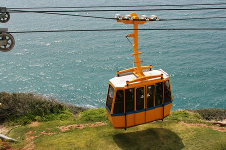 Funicular on  Rosh Hanikra , Israel photo
