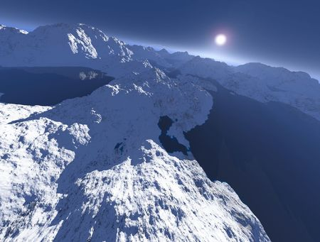 crack climbing: mountain covered with snow